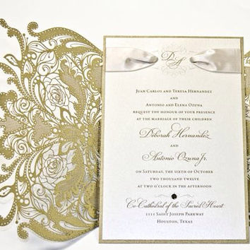 1920s Style Wedding Invitations Great Gatsby Invitation Set