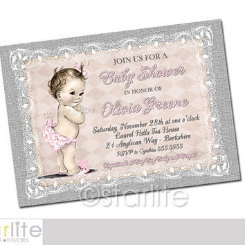 Best Shabby Chic Baby Shower Invitations Products On Wanelo