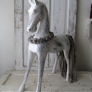 Wooden Horse Hand Carved From Suar Wood