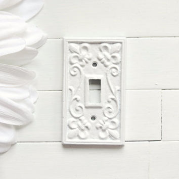 Distressed Double Light Switch Cover Plate Rustic Home Decor Shabby