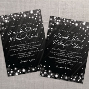 black invitation card new year templates