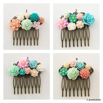 shop coral and turquoise wedding flowers on wanelo