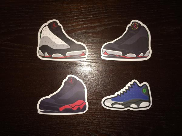 Air Jordan 13 Stickers from retro misfit | Epic Wishlist