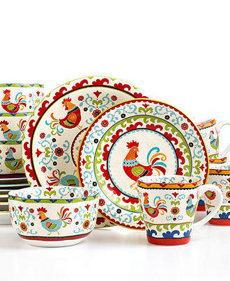 222 Fifth Dinnerware Suzani Rooster 16 From Macys Things I