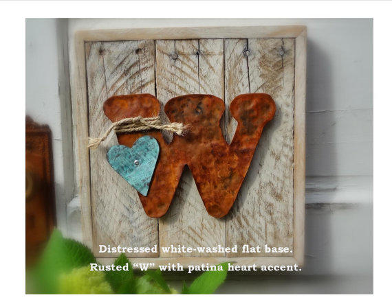 Reclaimed Wood Letter Sign Home Decor From CharaWorks