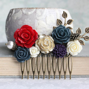 bridesmaids hair accessories rose bobby from apocketofposies on