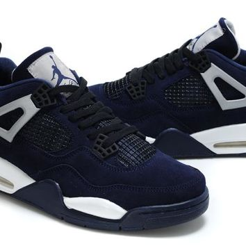 Air Jordan 4 (IV) Fluff Navy from retrojordansfan.com