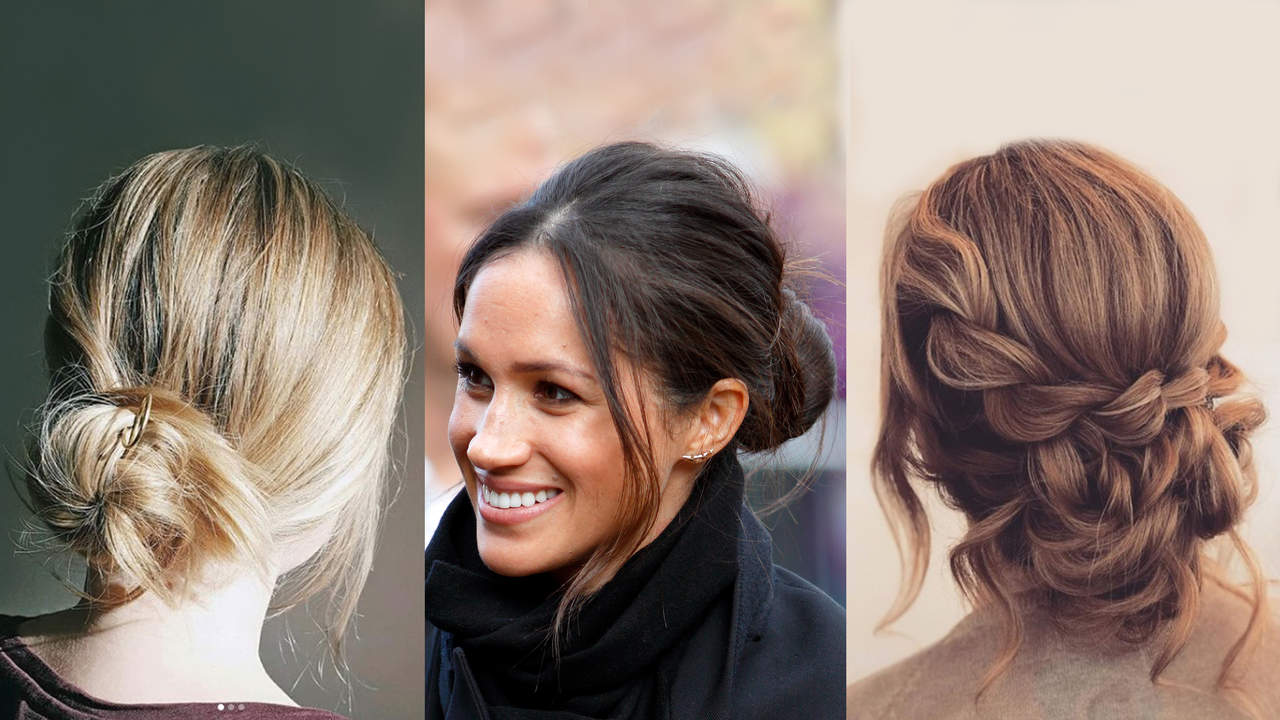 Messy Bun Ideas to Get an Updo Like Meghan Markle's ...