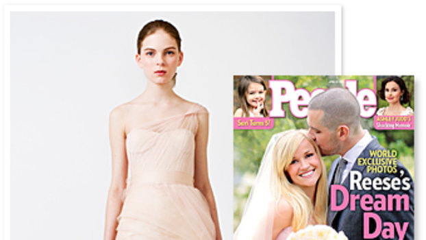 Reese Witherspoon Wedding : Pink Wedding Dress : Pink