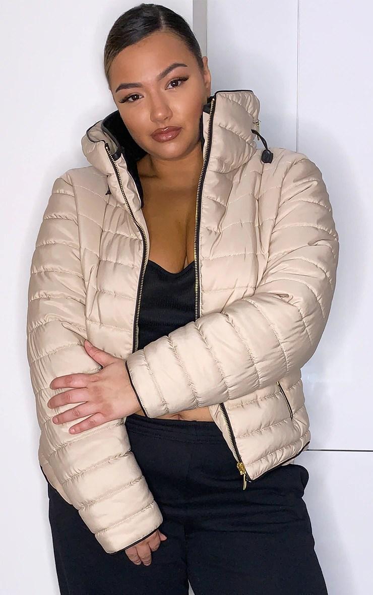 Plus Mara Stone Puffer Jacket 6