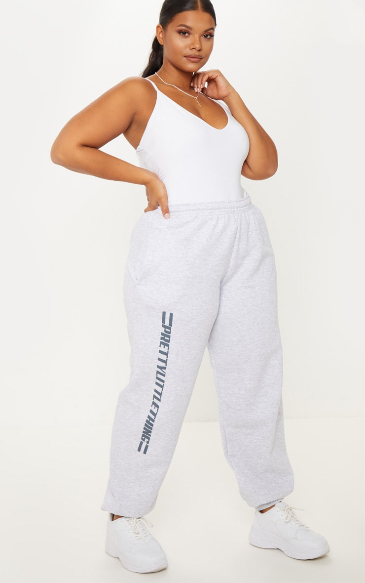 PRETTYLITTLETHING Plus Grey Casual joggers 2