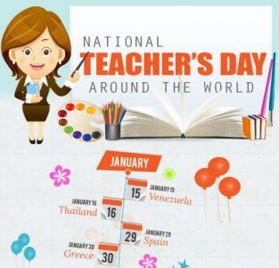 Teacher's Appreciation Day Around The World Infographic - E-Learning  Infographics