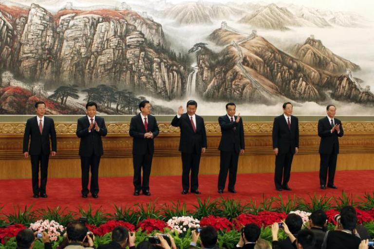 China's Politburo Standing Committee membersin Beijing, November 2012