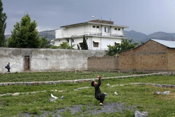 Osama bin Laden's former compound in Abbottabad, Pakistan, April 2012