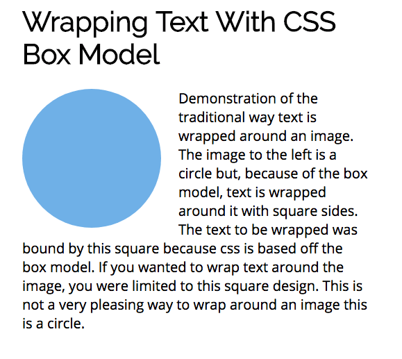 Think outside the box with CSS shape-outside