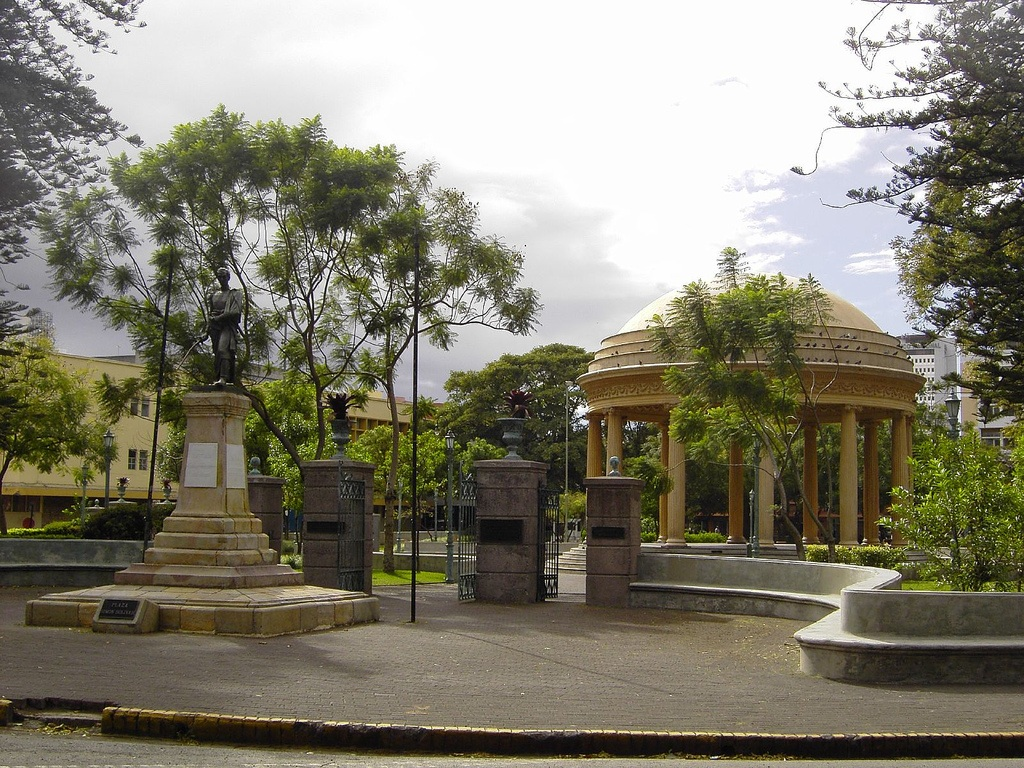 Parque Morazán Hidden Behind the Trees