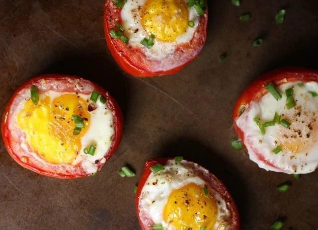 nướng cà chua