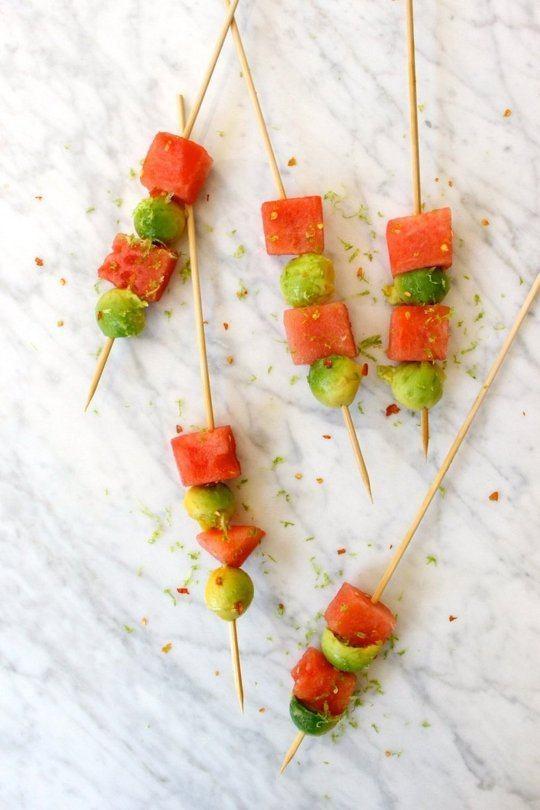 Avocado Watermelon Skewers