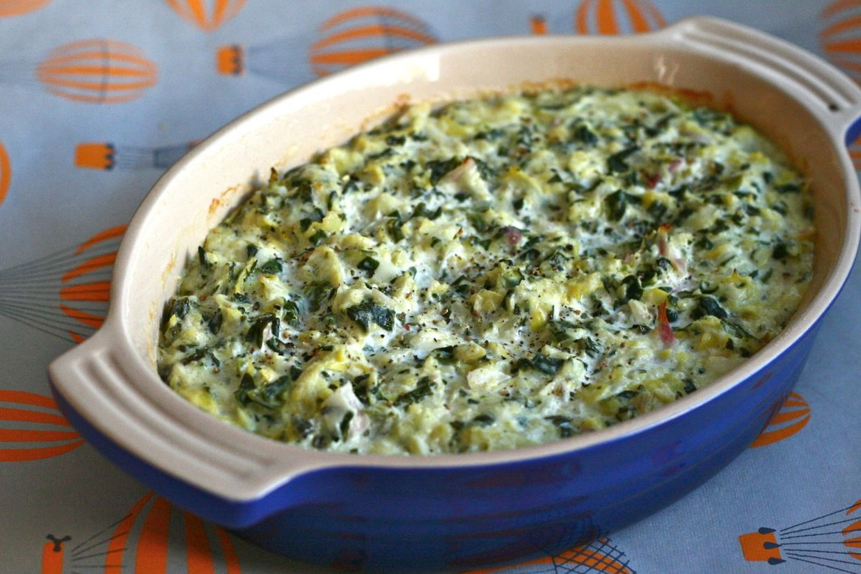 Spinach and artichoke pizza dip