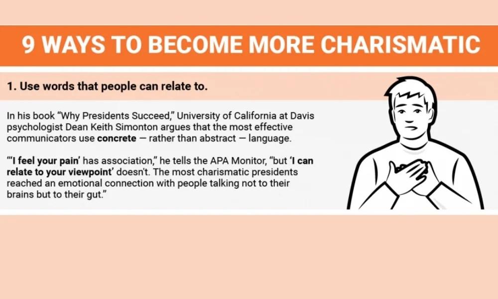 9 Ways To Improve Charisma