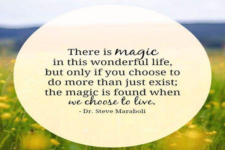 Magic in this wonderful life