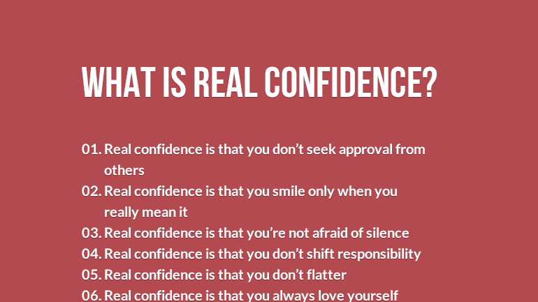 What is real confidence - feature image