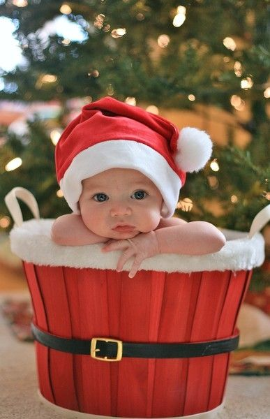 Baby-in-Santa-Basket