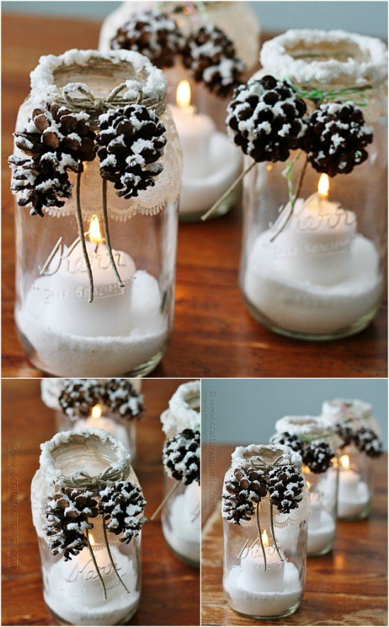 2-pinecone-decorated-mason-jars