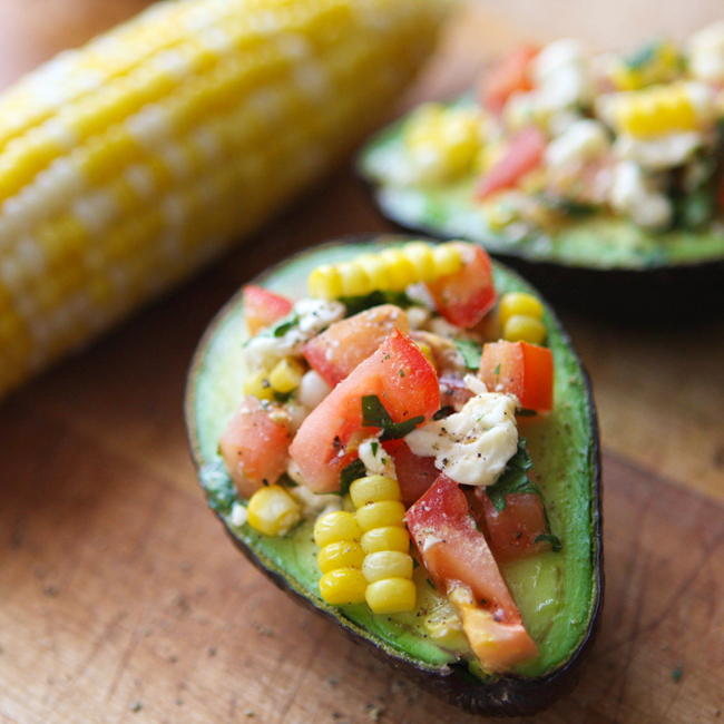 Corn Tomato Stuffed Avocado