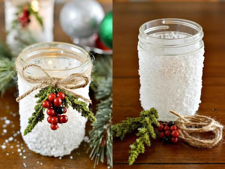 snowy-christmas-mason-jar-centerpiece