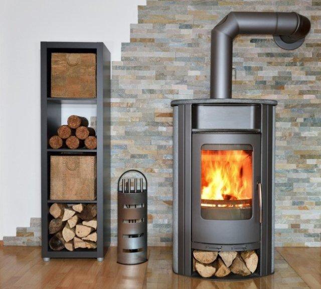 Freestanding Wood Fireplace