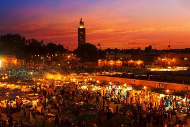 Jemaa-el-Fna-squre-in-Marrakesh-Morocco