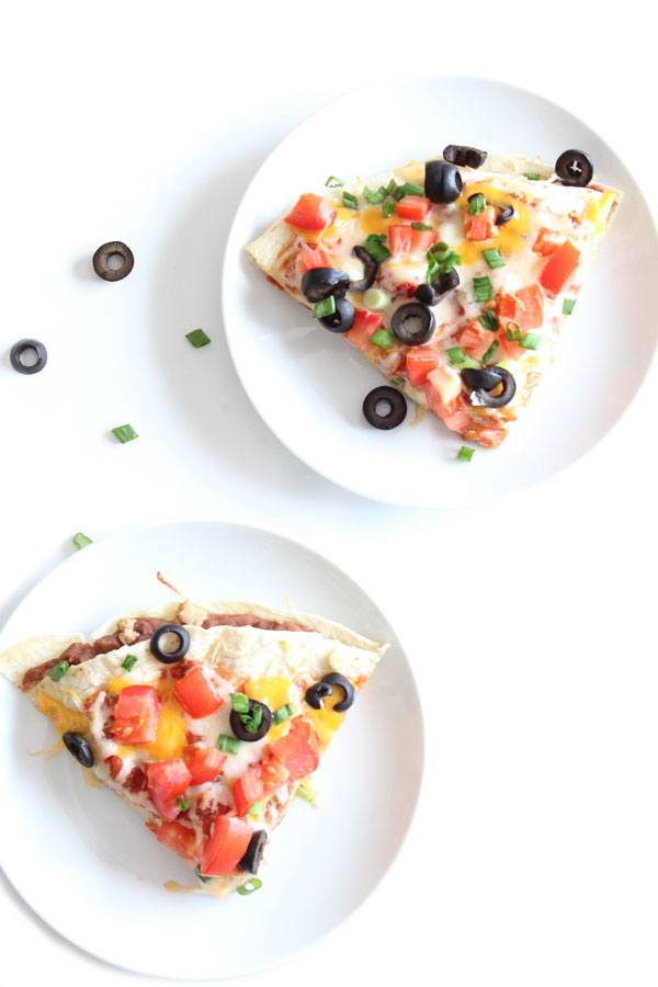 Mexican Leftover Pizza