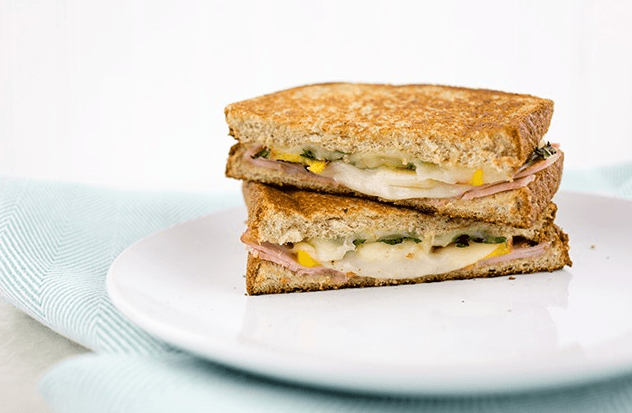 peach and ham sandwich
