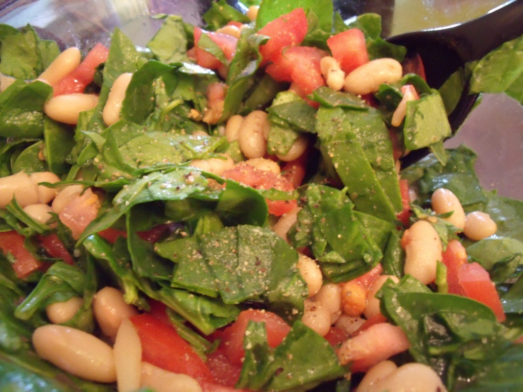 Spinach White Bean Salad