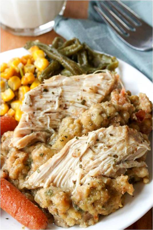 Crock-Pot-Chicken-And-Stuffing