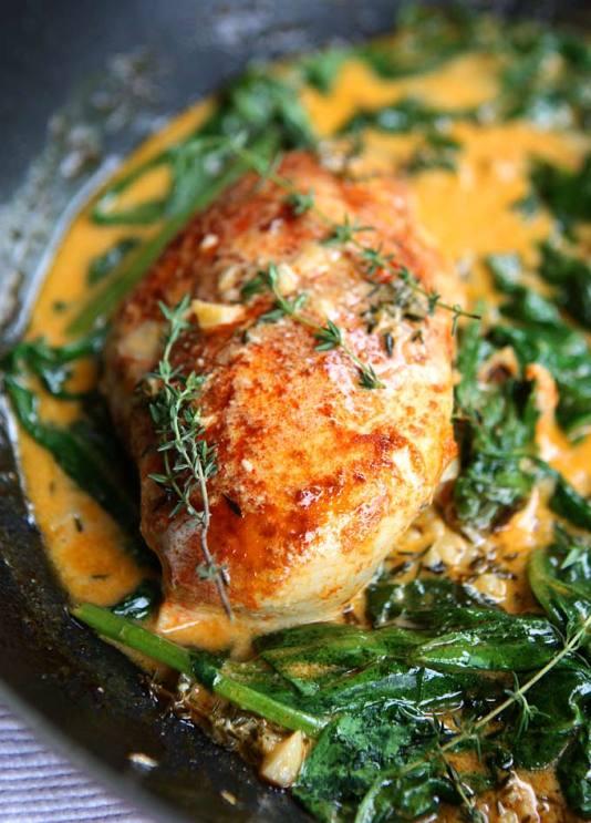 Paprika__Spinach_Chicken_in_Herb_Butter_Sauce_1