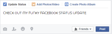 change facebook font for status update