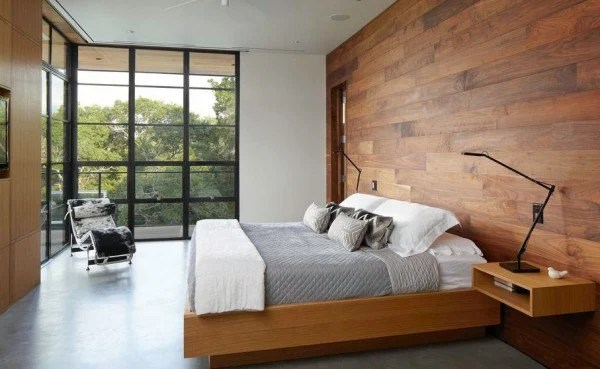 wooden-wall-minimalist-bedroom