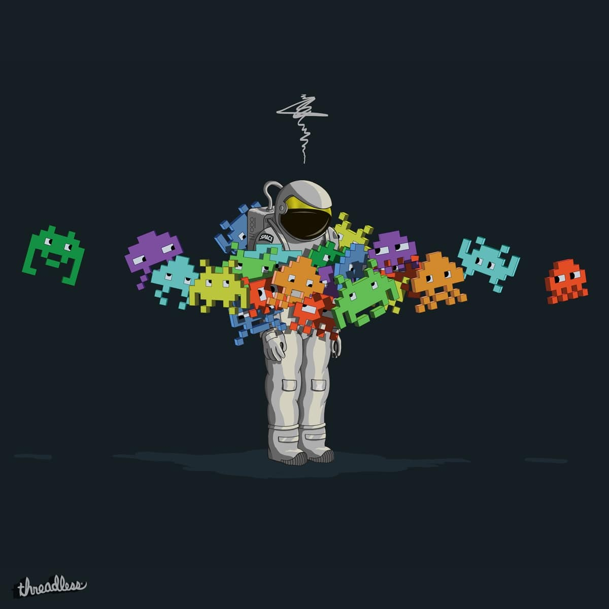 Score Personal Space Invaders By Deepspacetris On Threadless