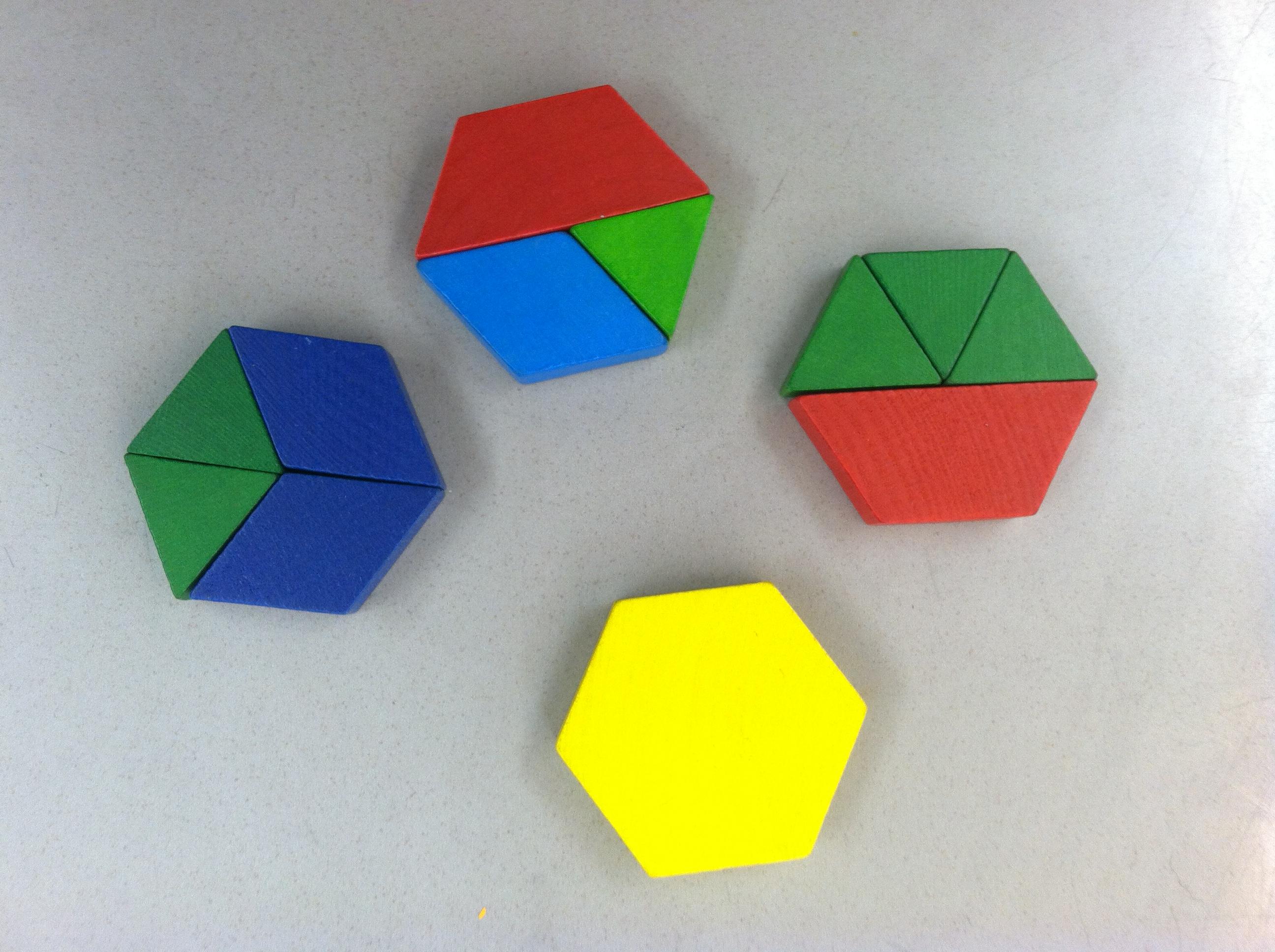 Pattern Block Symmetry Worksheets