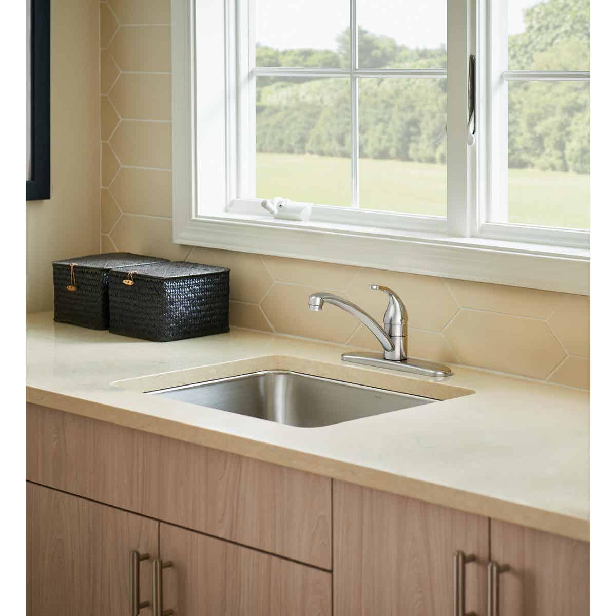 moen adler single handle lever kitchen