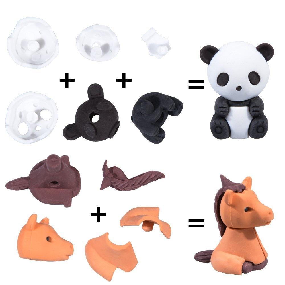 animal erasers for kids 30 pack mini