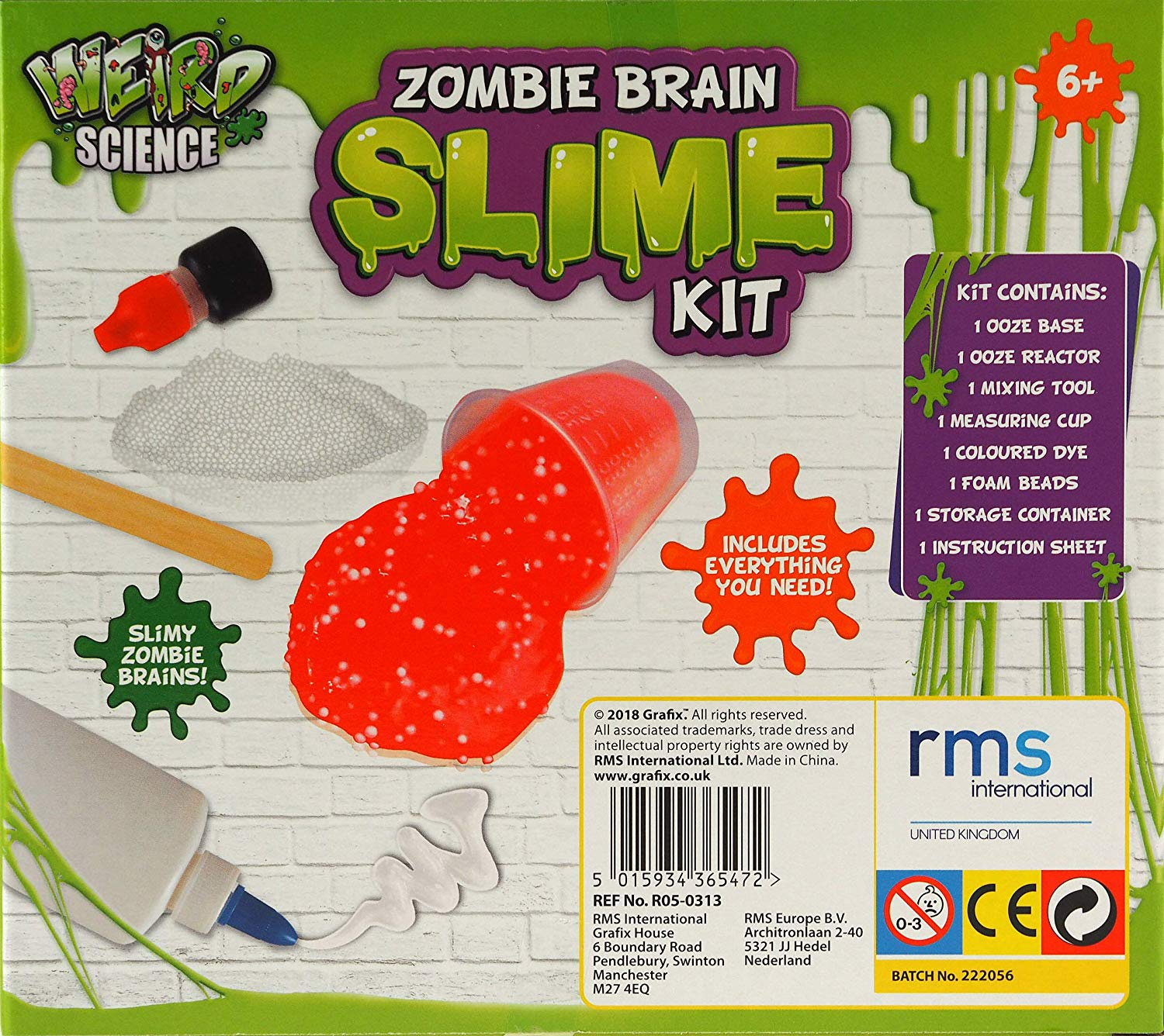 Grafix Weird Science Make Your Own Zombie Brain Slime Kit