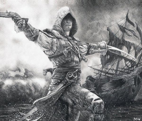 Assassins Creed 4 drawing by Bajan Art   No. 57