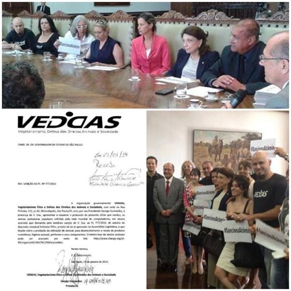 veddas-entrega-abaixo-assinado-para-governador-sobre-testes-em-animais