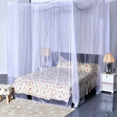 goplus 4 corner post bed canopy mosquito net full queen king size netting bedding