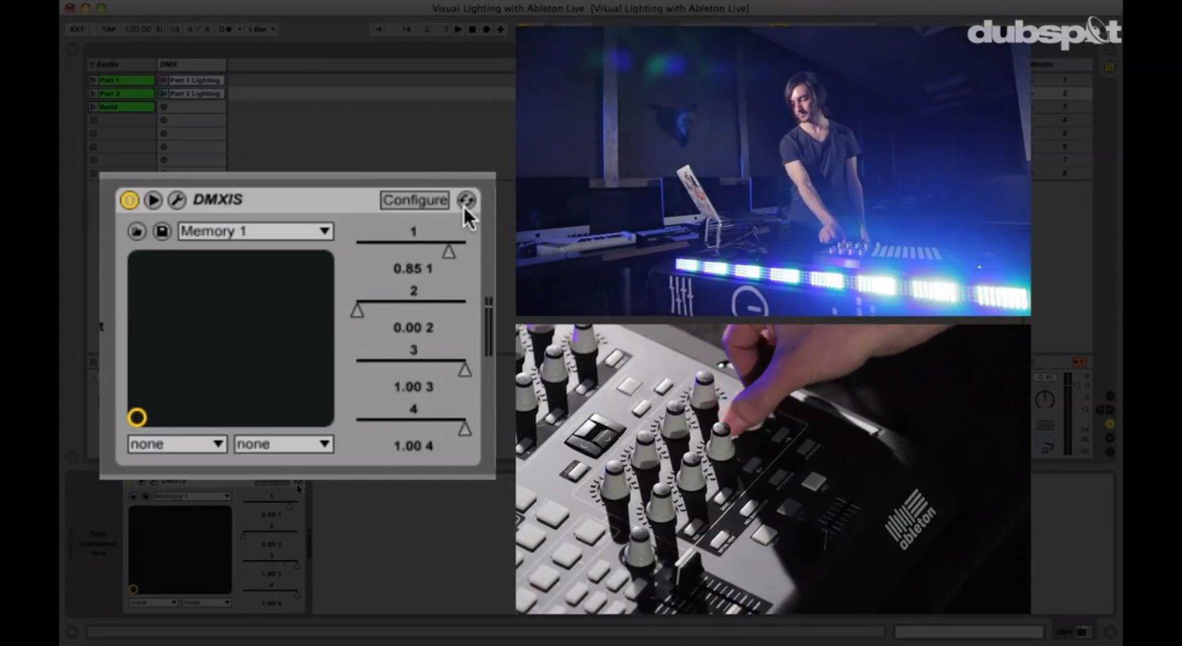drum arpeggiator and dmx lighting