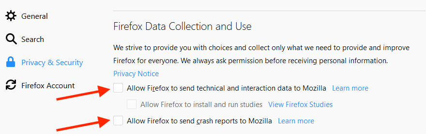 firefox privacy telemetry