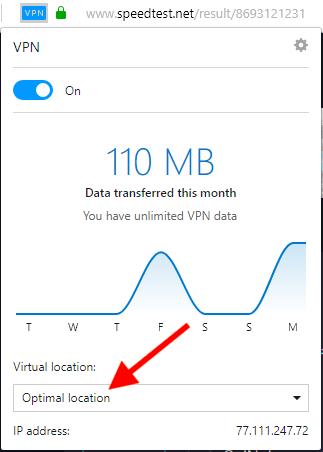 opera VPN hızları